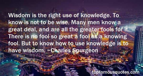 Quotes About Wisdom And Fools