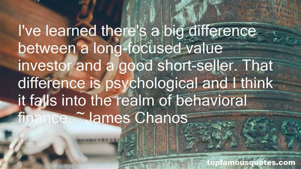 Quotes About Behavioral Finance