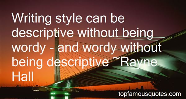 Quotes About Being Descriptive