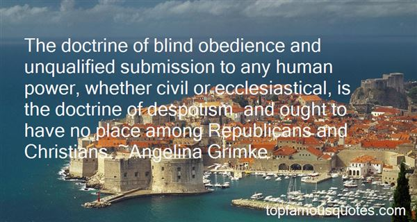 Quotes About Blind Obedience