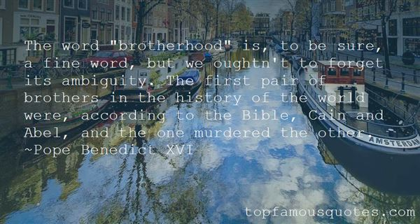 Quotes About Brotherhood In The Bible