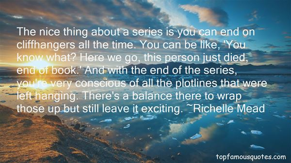 Quotes About Cliffhangers