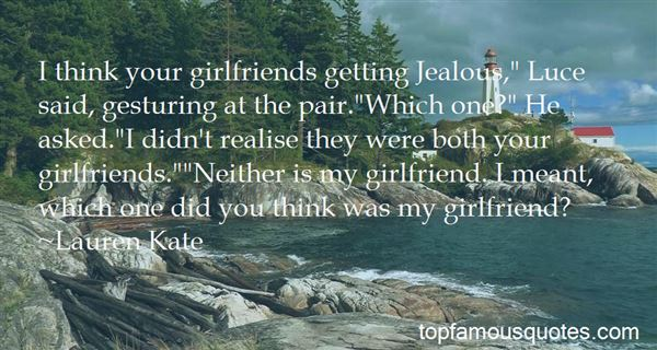 Quotes About Jealous Girlfriends