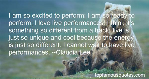 Quotes About Live Performances