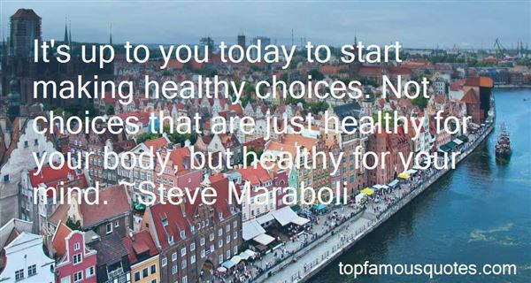 Quotes About Making Healthy Choices
