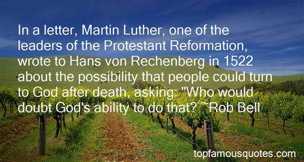 Quotes About Martin Luther Reformation