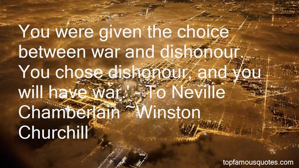 Quotes About Neville Chamberlain