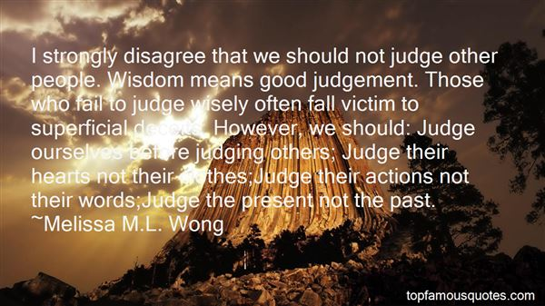Quotes About Not Judging The Past