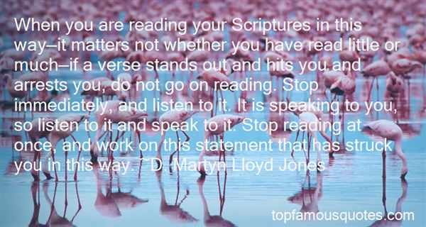 Quotes About Scripture Reading