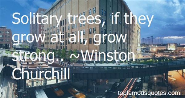 Quotes About Solitary Trees