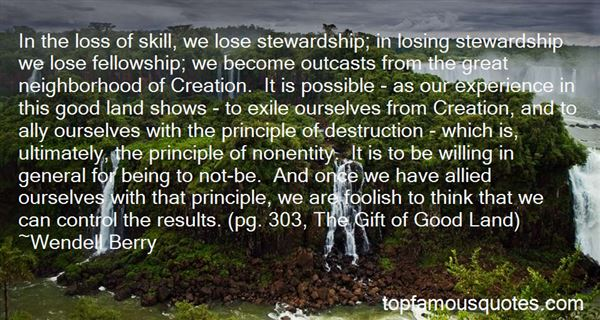Quotes About Stewardship Of Creation