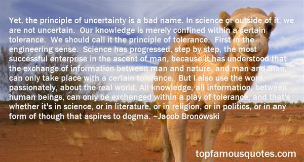Quotes About Uncertainty In Science