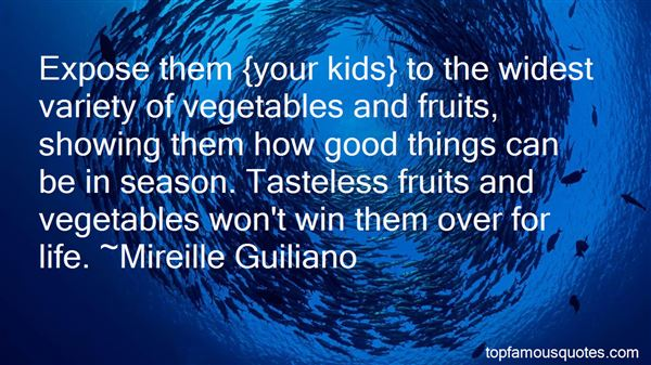 Quotes About Vegetables And Fruits