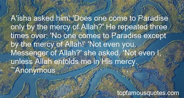 Quotes About Allah Mercy