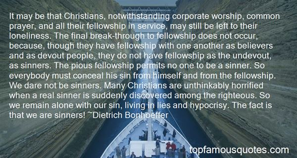 Quotes About Christian Fellowship