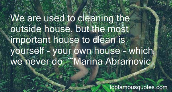 Quotes About Cleaning Your Own House