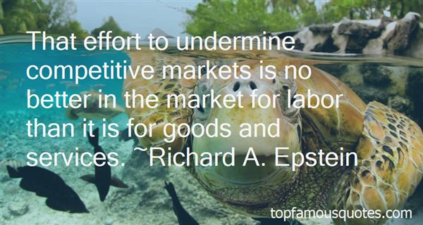 Quotes About Competitive Markets