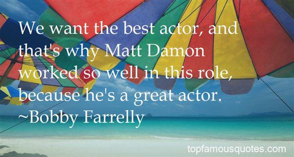 Quotes About Matt Damon