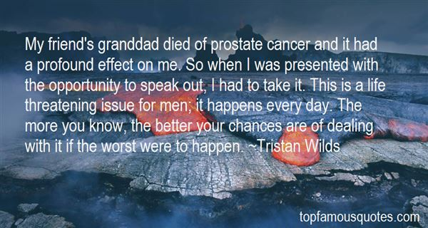 Quotes About Prostate Cancer