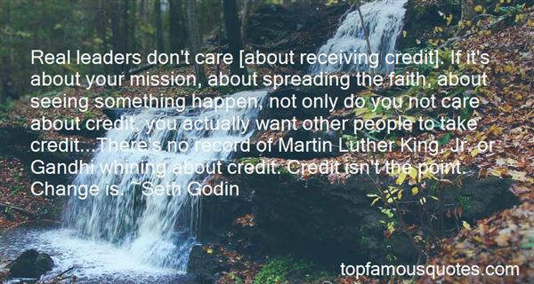 Quotes About Receiving Credit