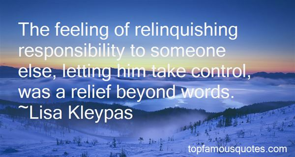 Quotes About Relinquishing Control