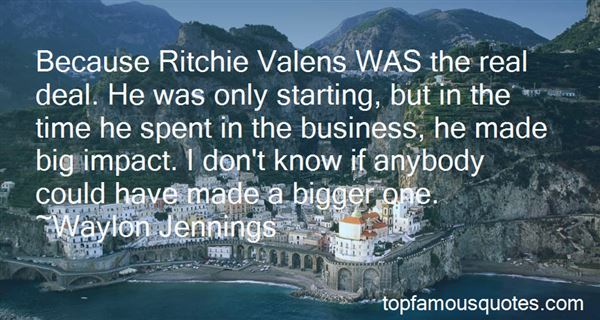 Quotes About Ritchie Valens