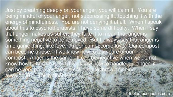Quotes About Suppressing Anger