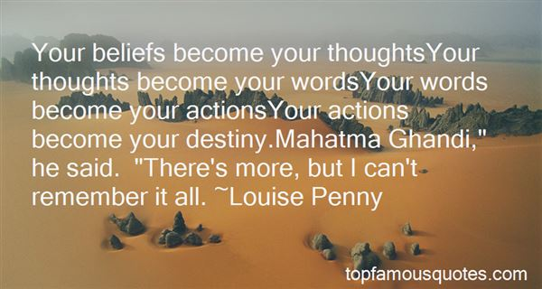 Quotes About Thoughts Become Actions