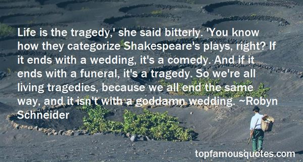 Quotes About Tragedy Plays