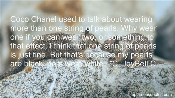 Quotes About Wearing Pearls