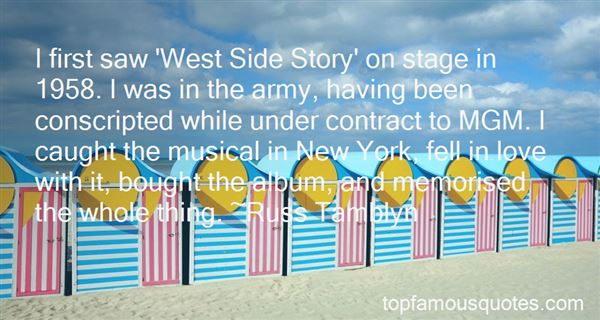 Quotes About West Side Story