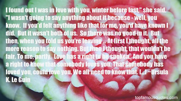 Quotes About Winter Leaving