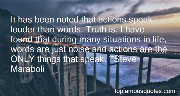 Quotes About Actions Are Louder Than Words