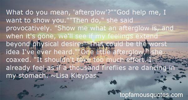 Quotes About Afterglow