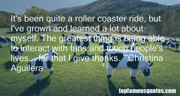 Quotes About Being On A Roller Coaster