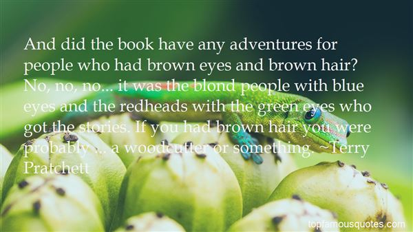 Quotes About Blue Eyes And Brown Hair