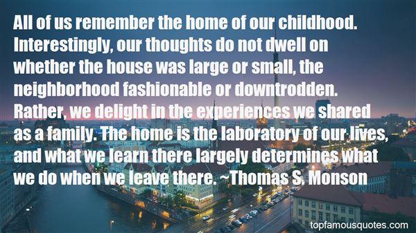 Quotes About Childhood Neighborhood