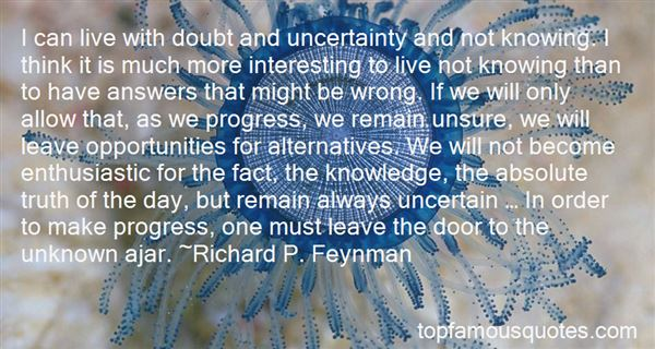 Quotes About Doubt And Uncertainty