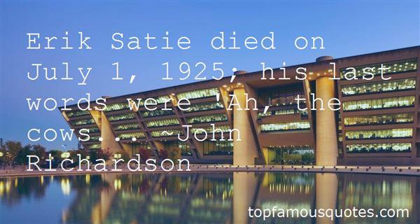 Quotes About Erik Satie