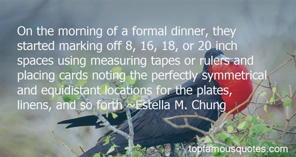 Quotes About Formal Dinner