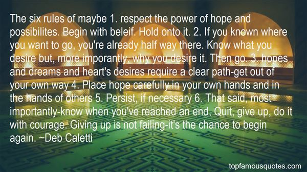 Quotes About Giving Your Hopes Up