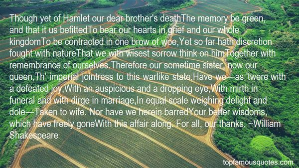 Quotes About Grief In Hamlet