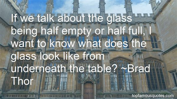 Quotes About Half Empty Glass