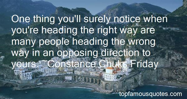 Quotes About Heading In The Wrong Direction