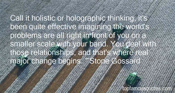 Quotes About Holistic Thinking