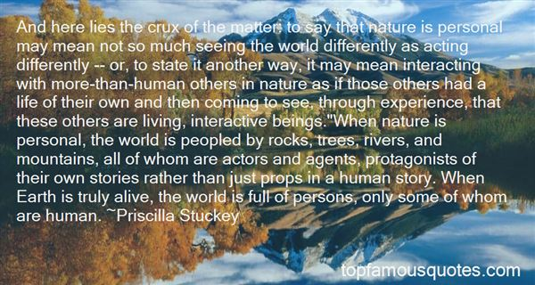 Quotes About Interacting With Nature
