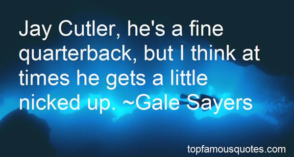 Quotes About Jay Cutler