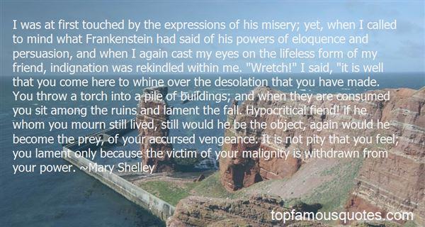 Quotes About Judgement In Frankenstein