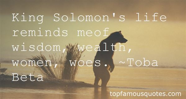 Quotes About King Solomon