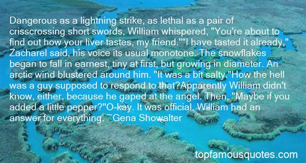Quotes About Lightning Strike